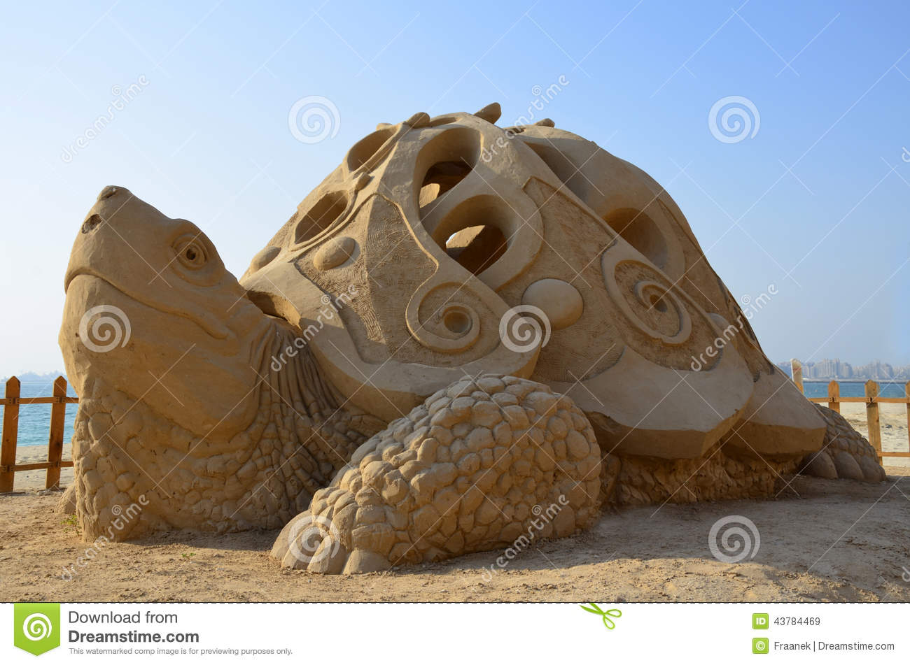 Sand sculpture - giant turtle.