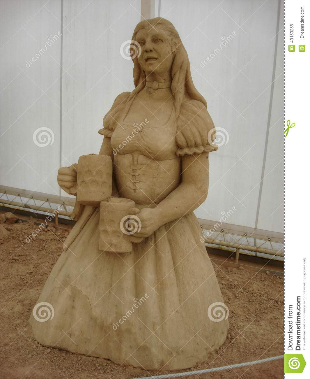 Sand sculpture stock image. Image of sand, sculpture ...