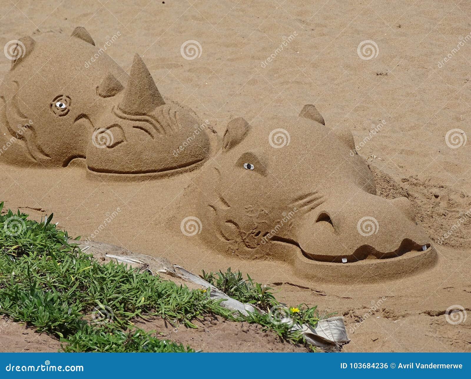 Wildlife Sculpture in Sand