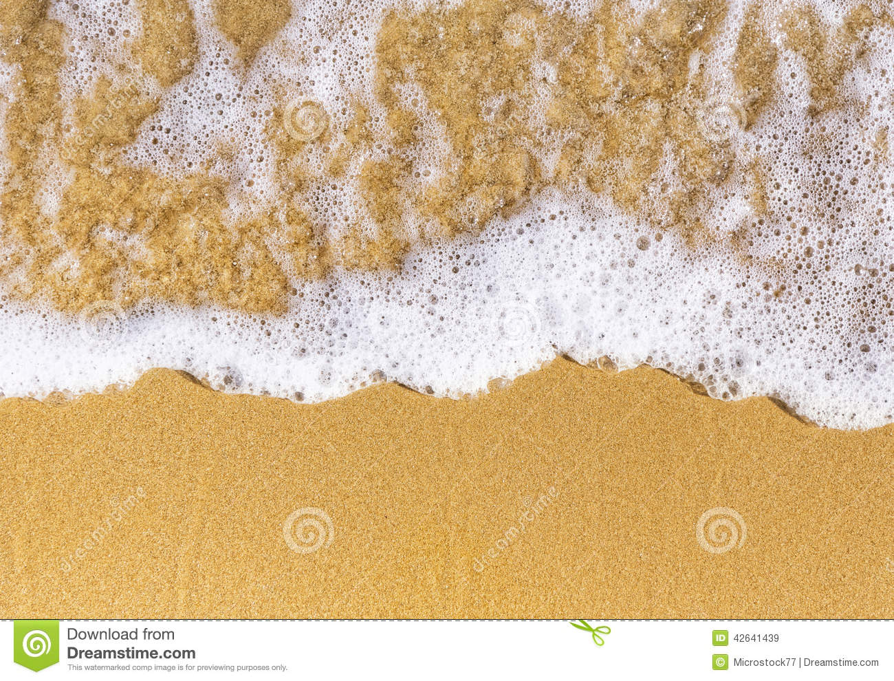 Sand sea top view