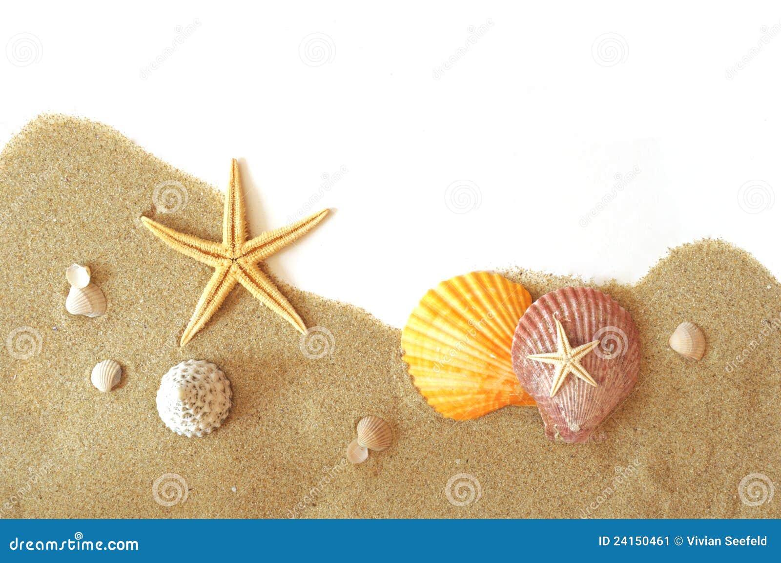 beach scene clipart border. sand and seastar border stock beach scene clipart