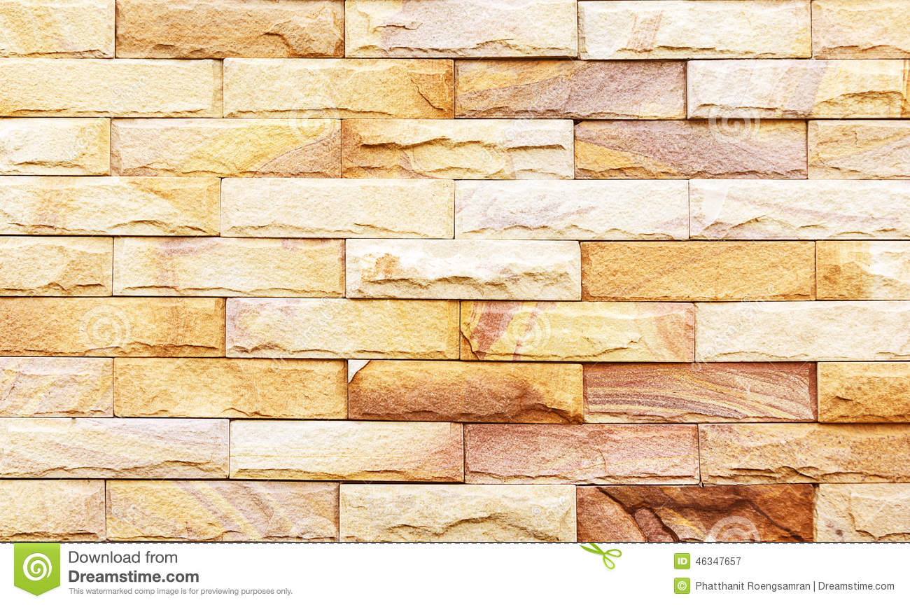 Sand Stone Wall Background Of Decorate Stock Image - Image of nature ...