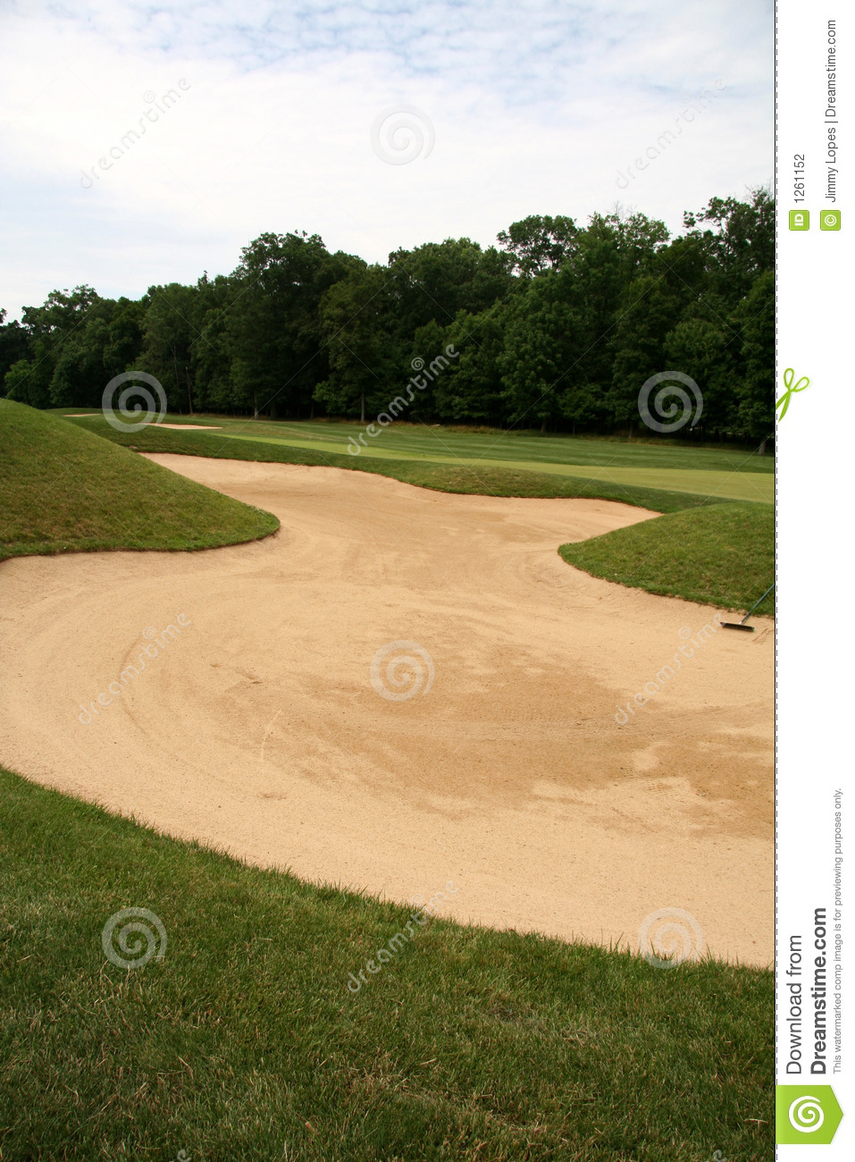 Sand trap stock photography image 1261152 - Wand trap ...