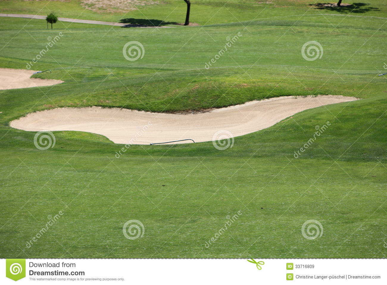 Sand trap or bunker on a golf course royalty free stock images image 33716809 - Wand trap ...