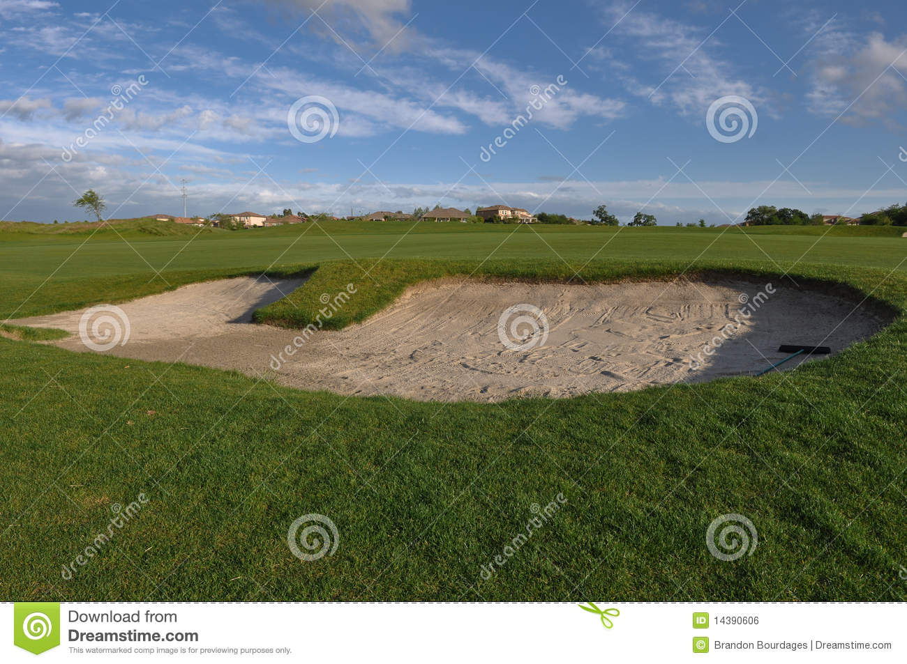 Sand trap on golf course royalty free stock image image 14390606 - Wand trap ...