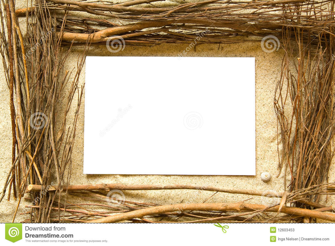 sand and twigs frame