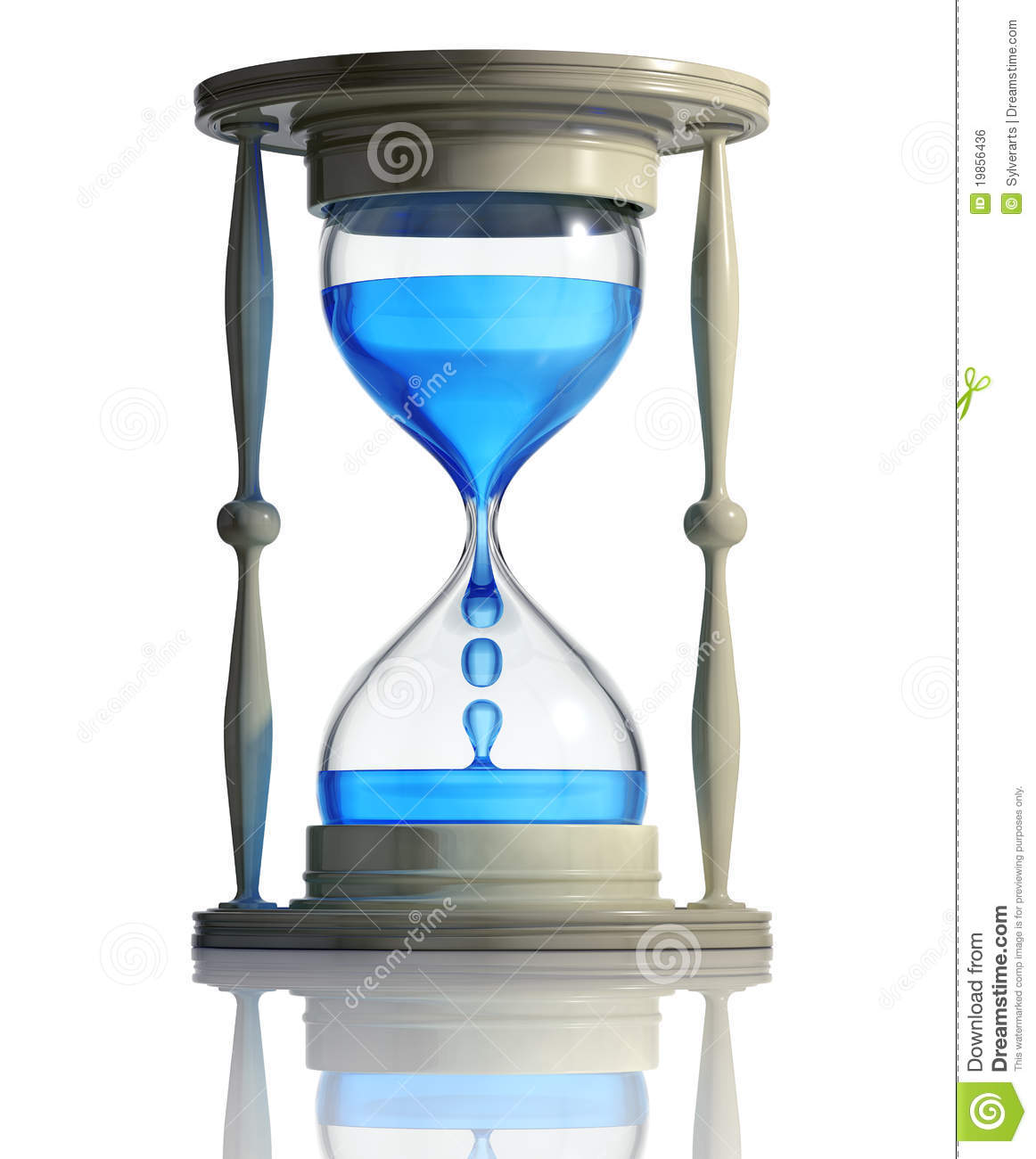 Sand watch with water inside royalty free stock image for Youtube h2o