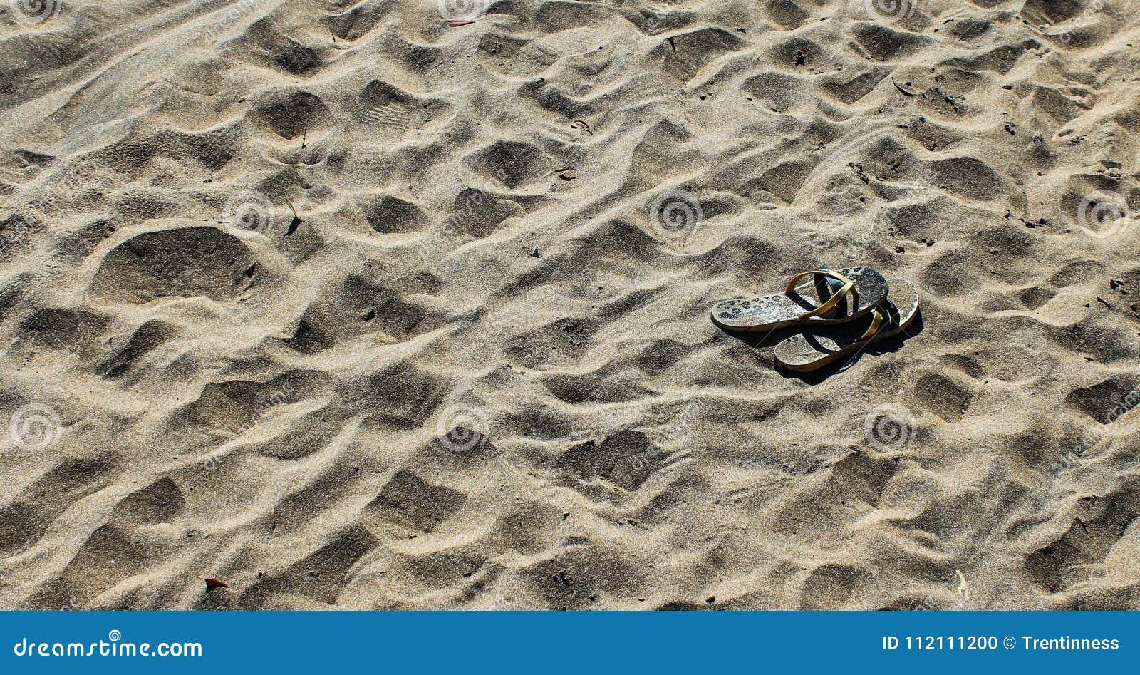 Sandały na plaży w Nowa Zelandia