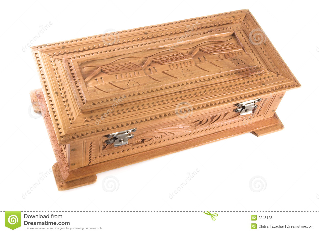 Sandal wood jewelry box royalty free stock photo image for Jewelry box made of wood