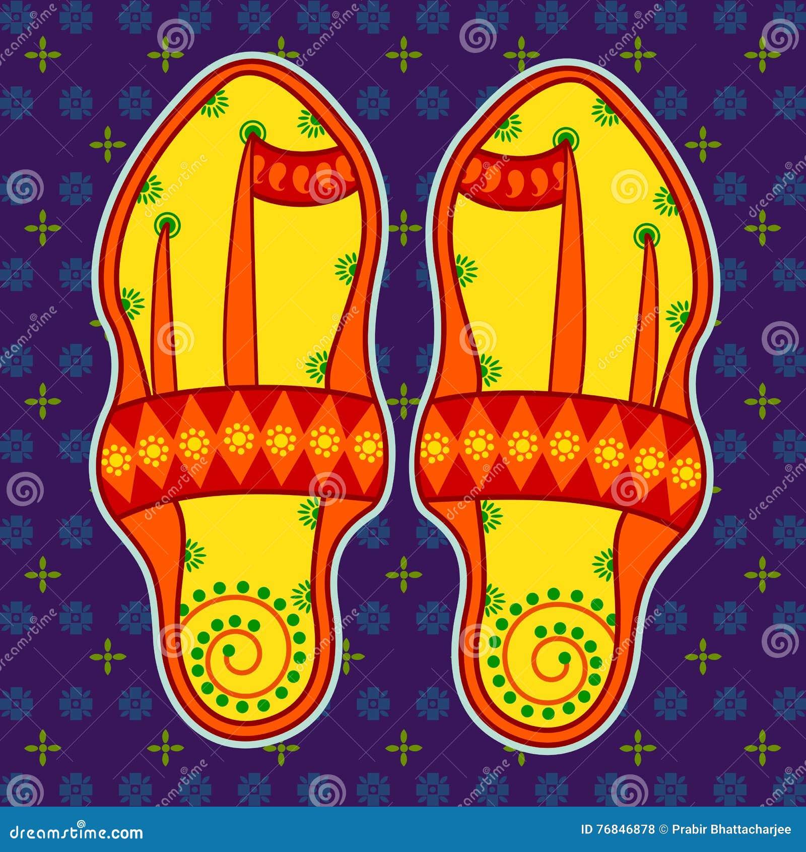 Sandalo Di Indiano Arte Illustrazione Kolhapuri Stile Nello zSVGpqUM
