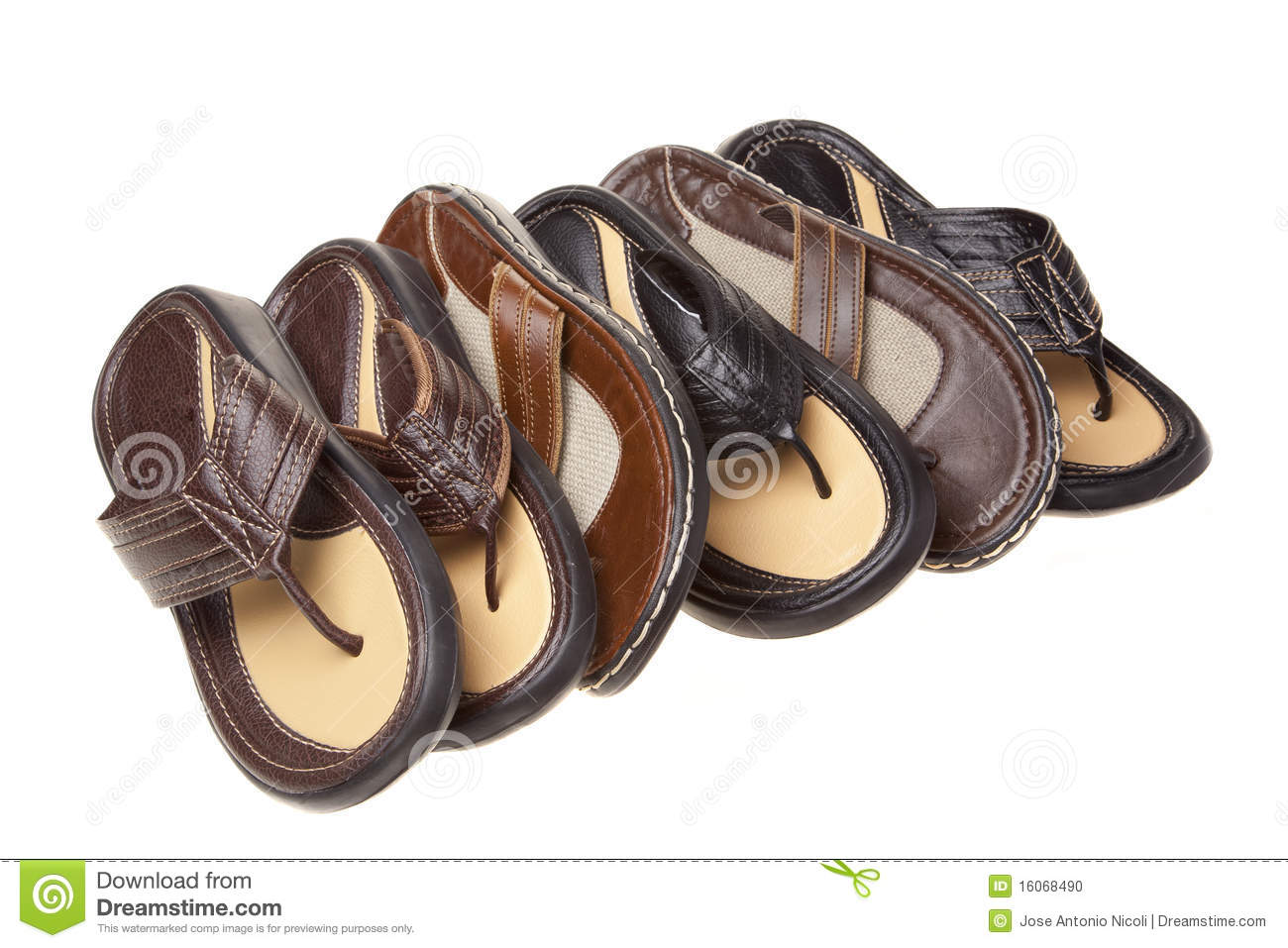 ab8a97be42386 Sandals in a row stock photo. Image of clothing
