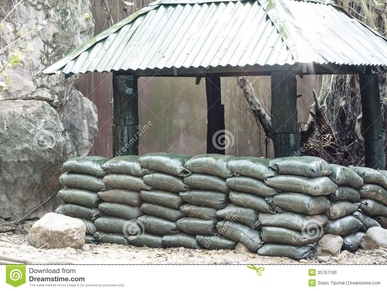 Sandbag Bunker Stock Photos, Royalty-Free Images & Vectors ...