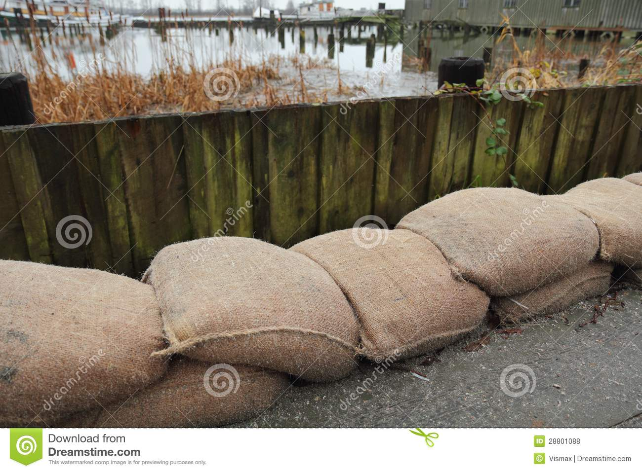 Sandbag flood protection royalty free stock photos image 28801088 - Sac de sable inondation ...