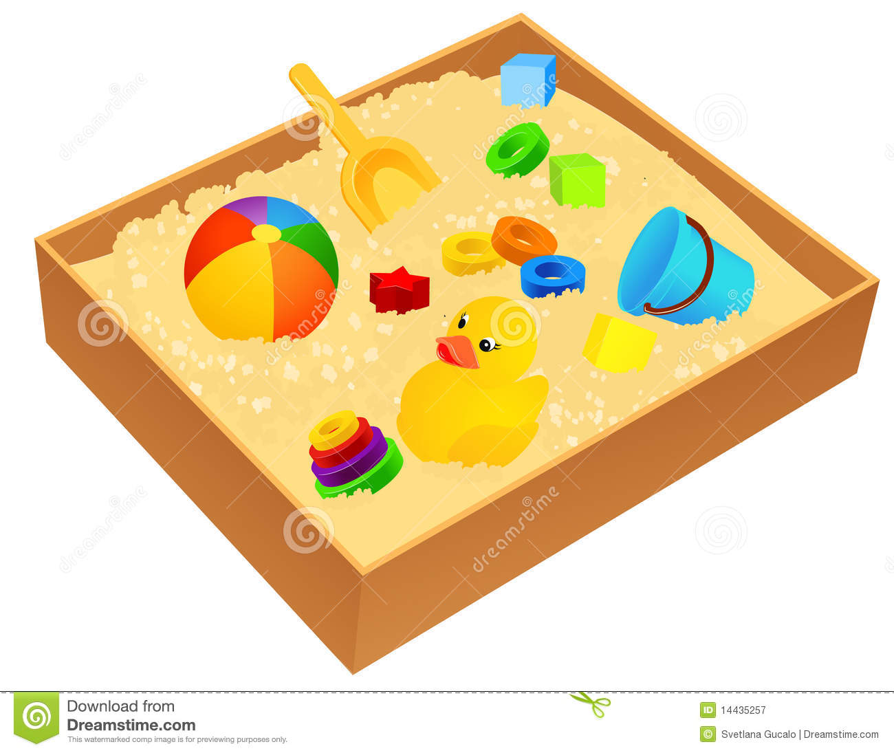 Sandbox Royalty Free Stock Photography - Image: 14435257