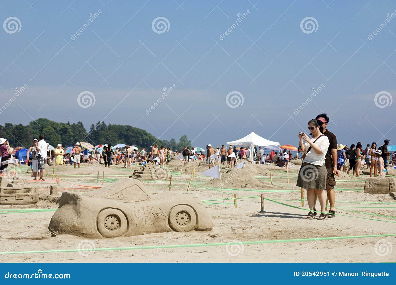 Sandcastle Festival Cobourg Ontario July 2011 Editorial Photo Image 20542951