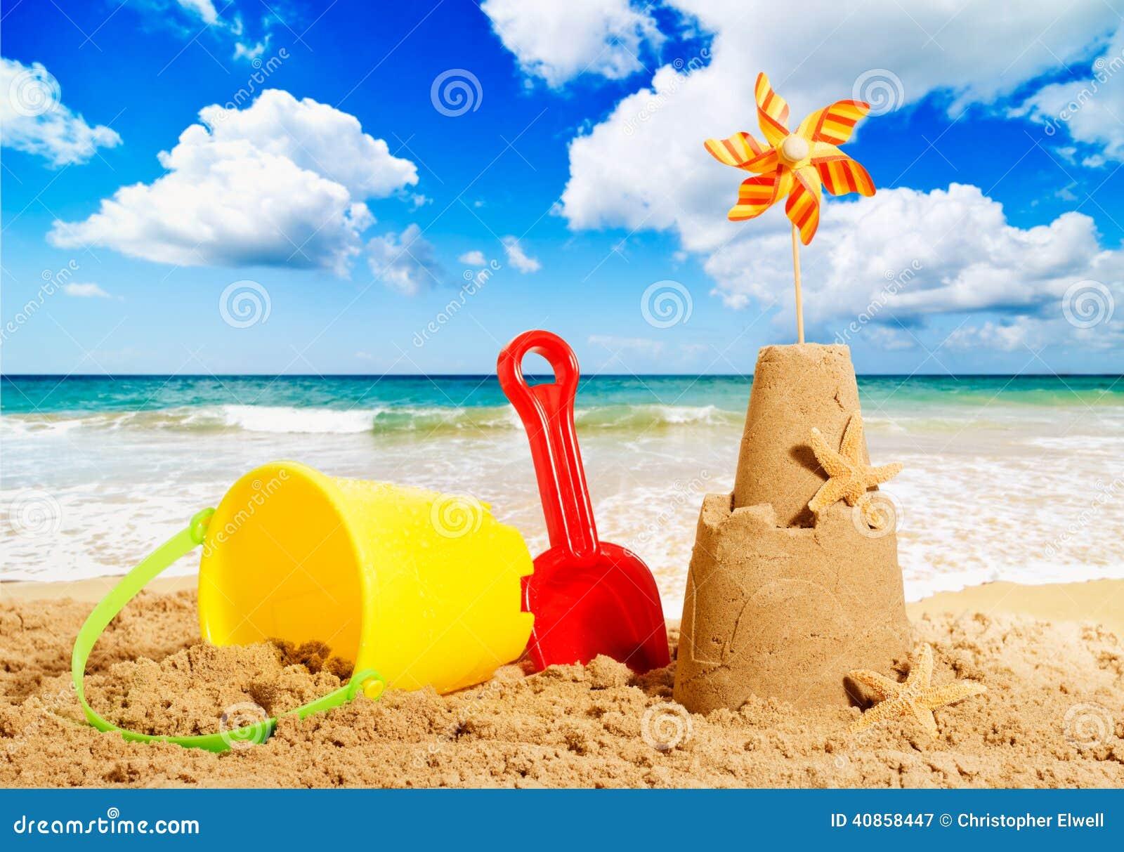 Sandcastle Stock Photo Image 40858447