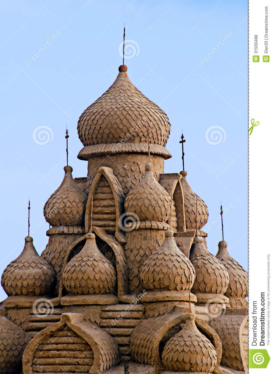 Sandcastle  typical russian church made from sand Sandcastle Icon