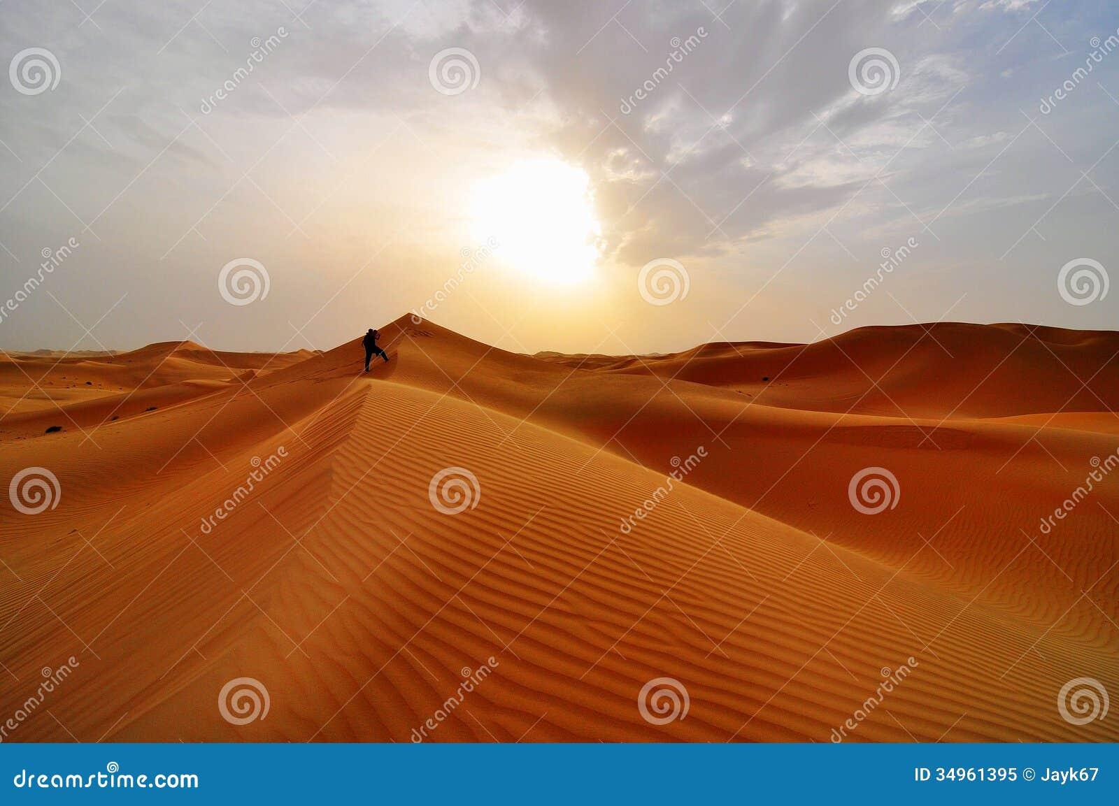 Sanddyn i öken