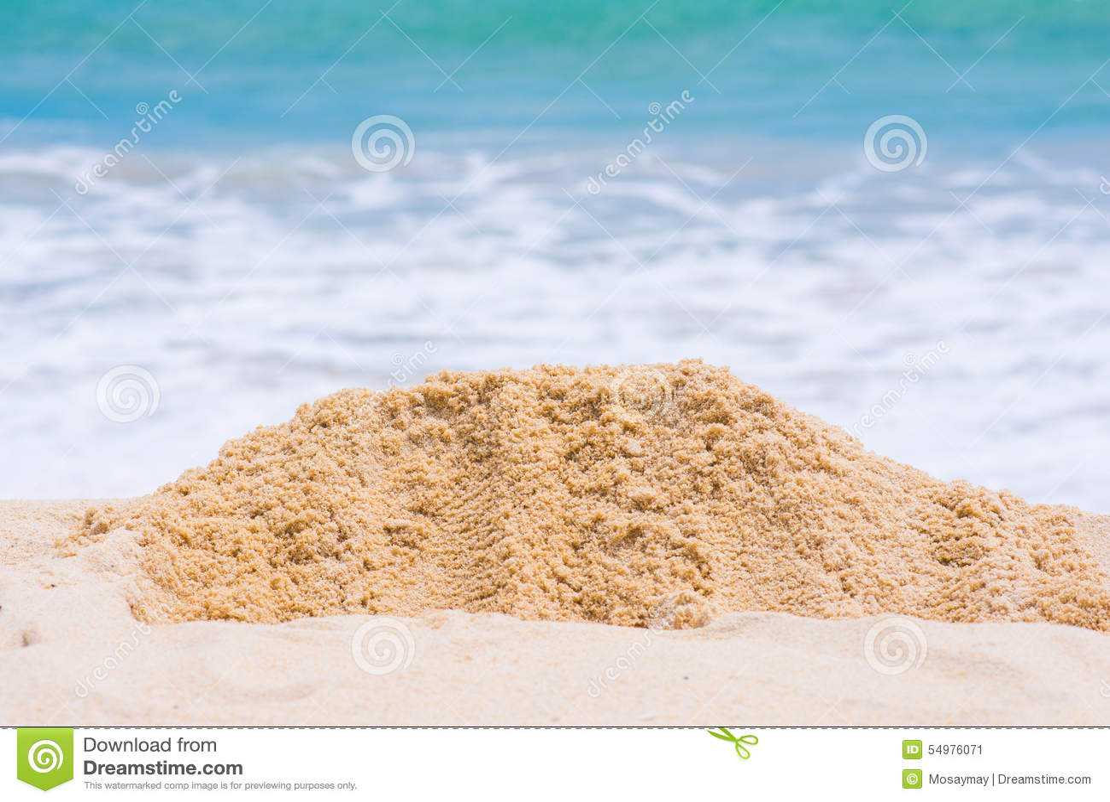 Sanden på stranden
