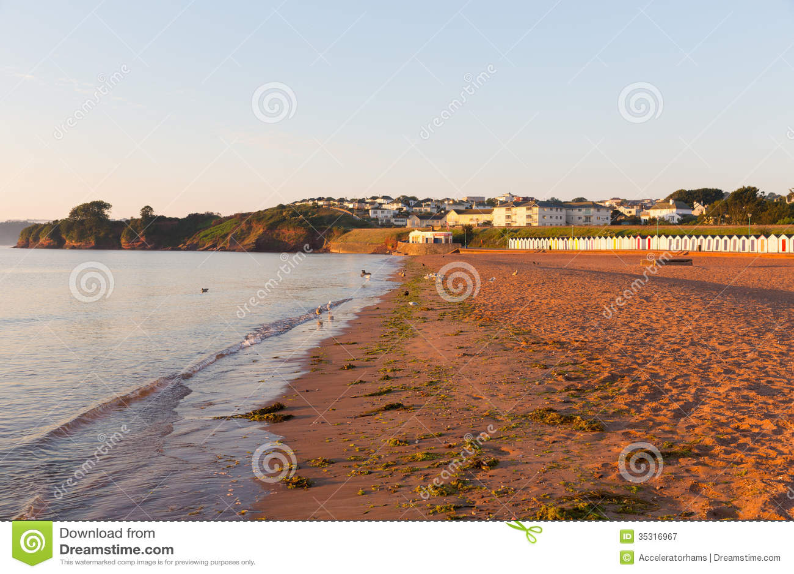 Sandiger Strand Goodrington Devons nahe Paignton