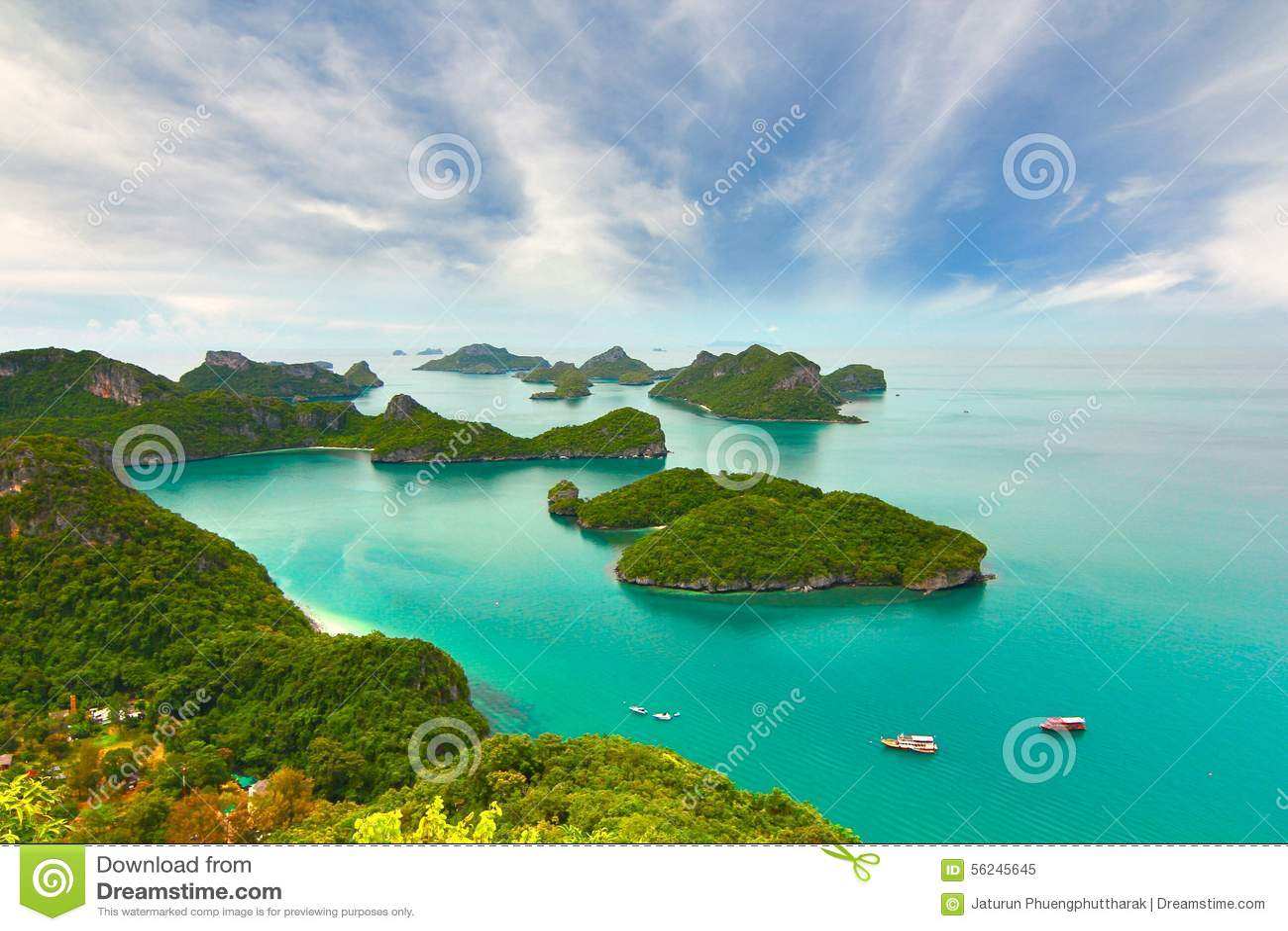 Sandigt strandhav Koh Samui, Thailand