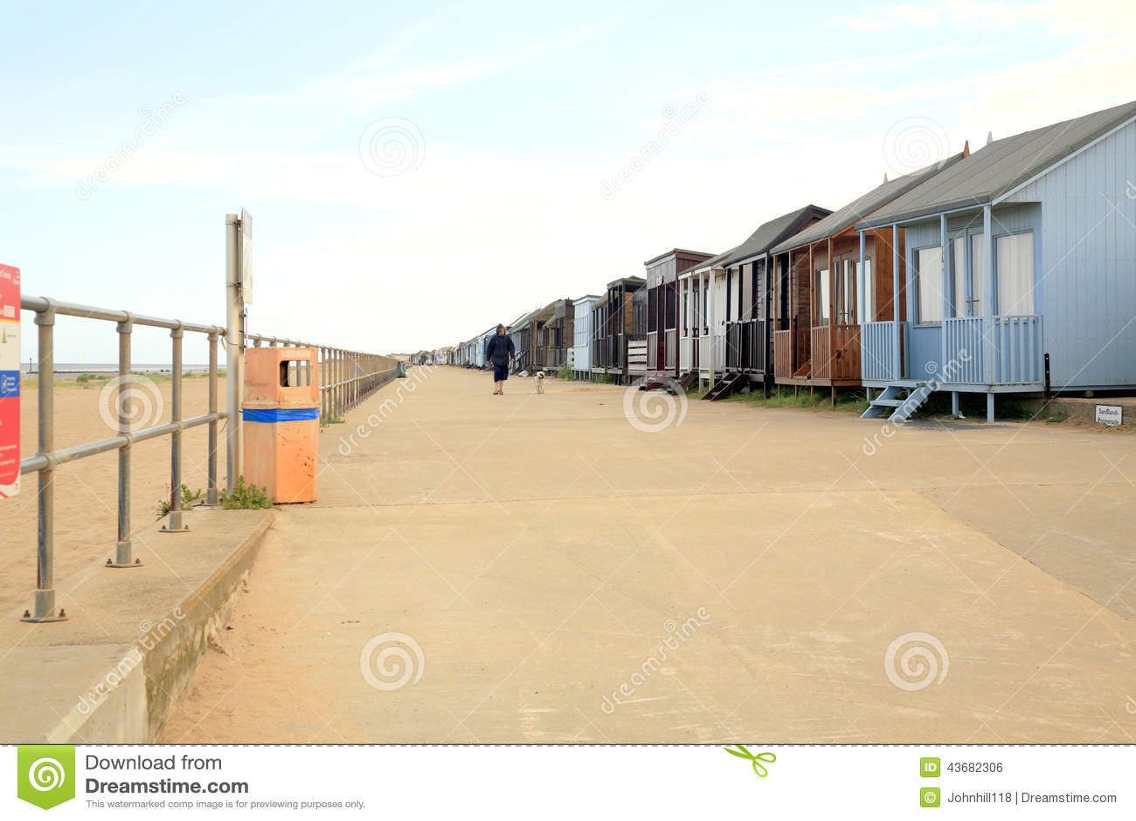 Beach Huts On Promenade