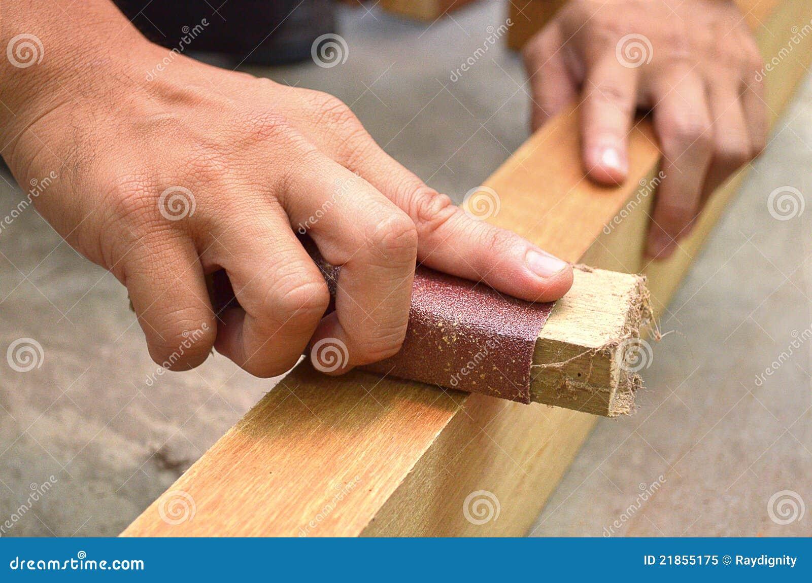 Sanding Wood Royalty Free Stock Photo - Image: 21855175