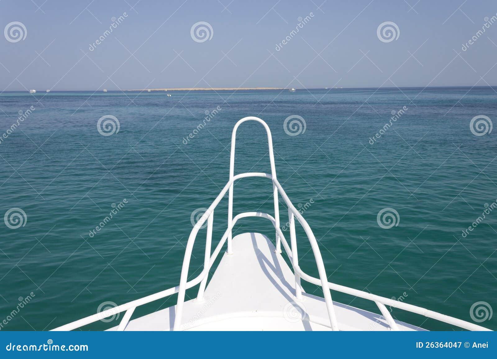 Sandinsel und Horizont vor einer Lieferung
