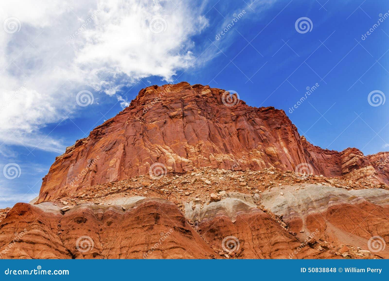 Sandstone Mountain Capitol Reef National Park Utah Stock Photo ...