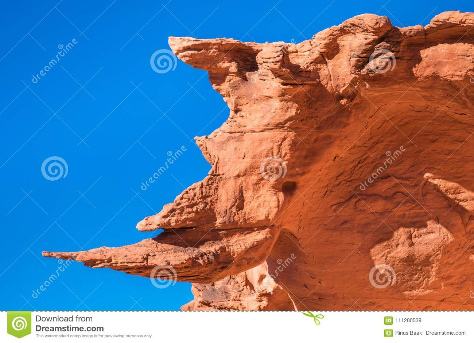 Sandstone Rhinoceros stock image  Image of sand, eroded