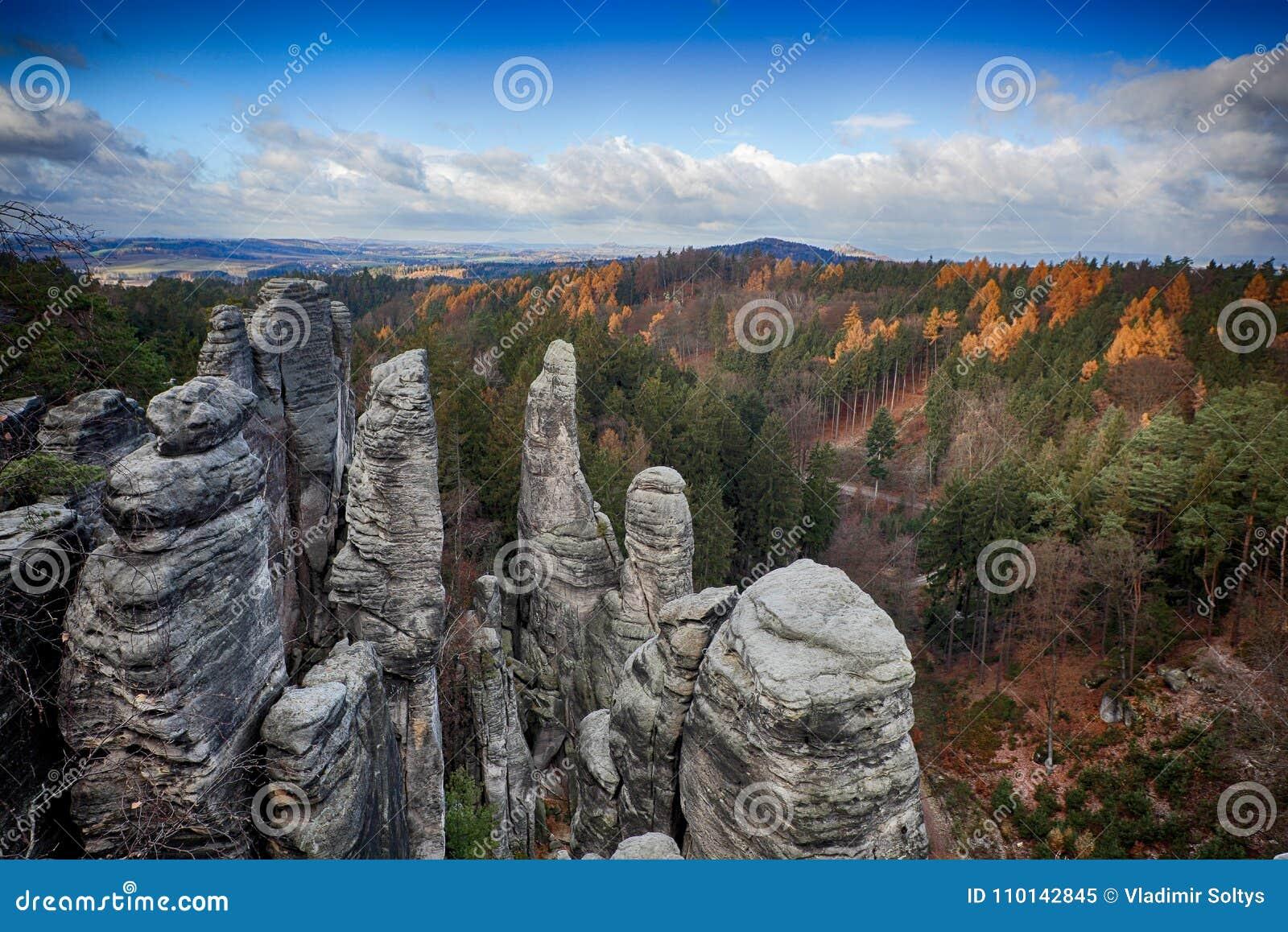 Prachov rocks in Bohemian paradise
