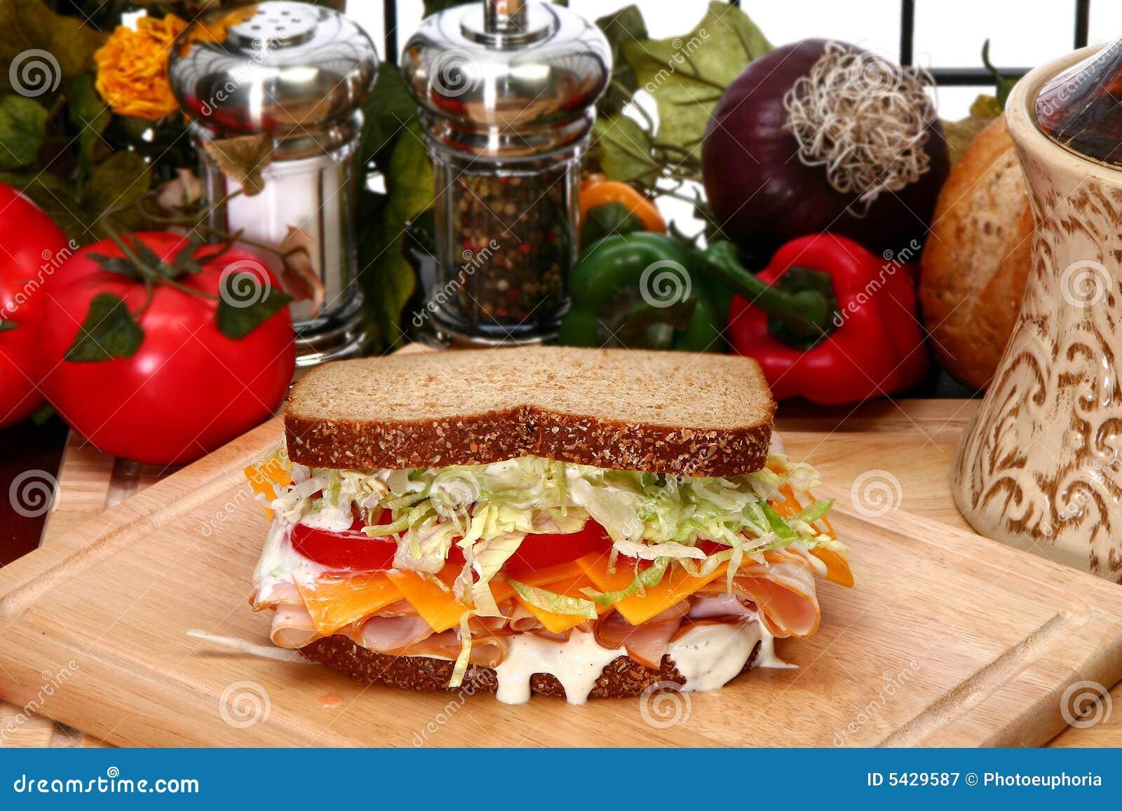 Sanduíche de turquia