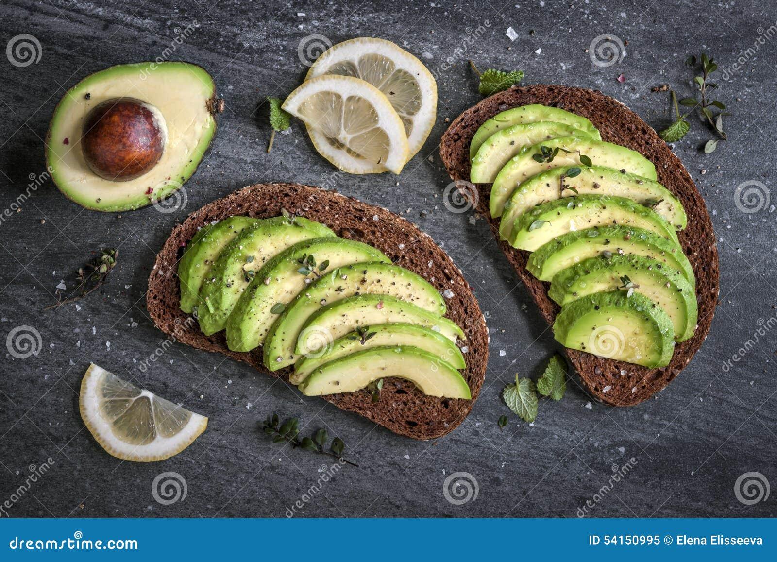 Sanduíche do abacate