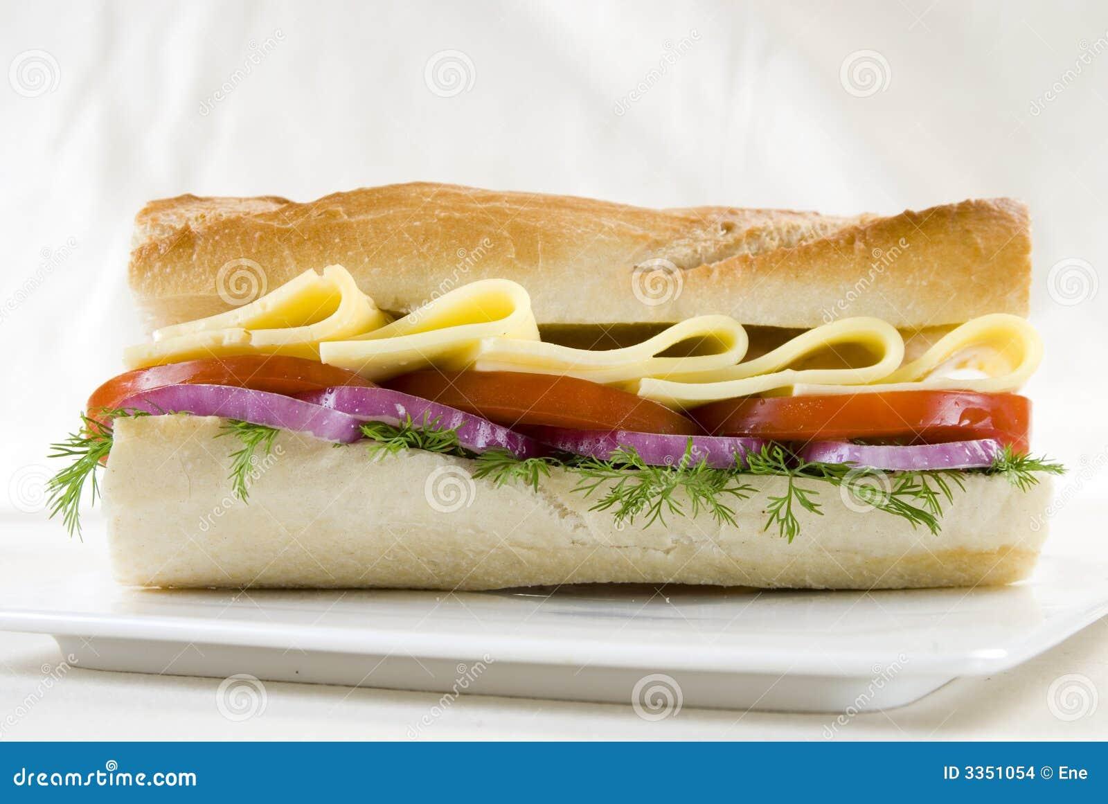Sanduíche do pão branco