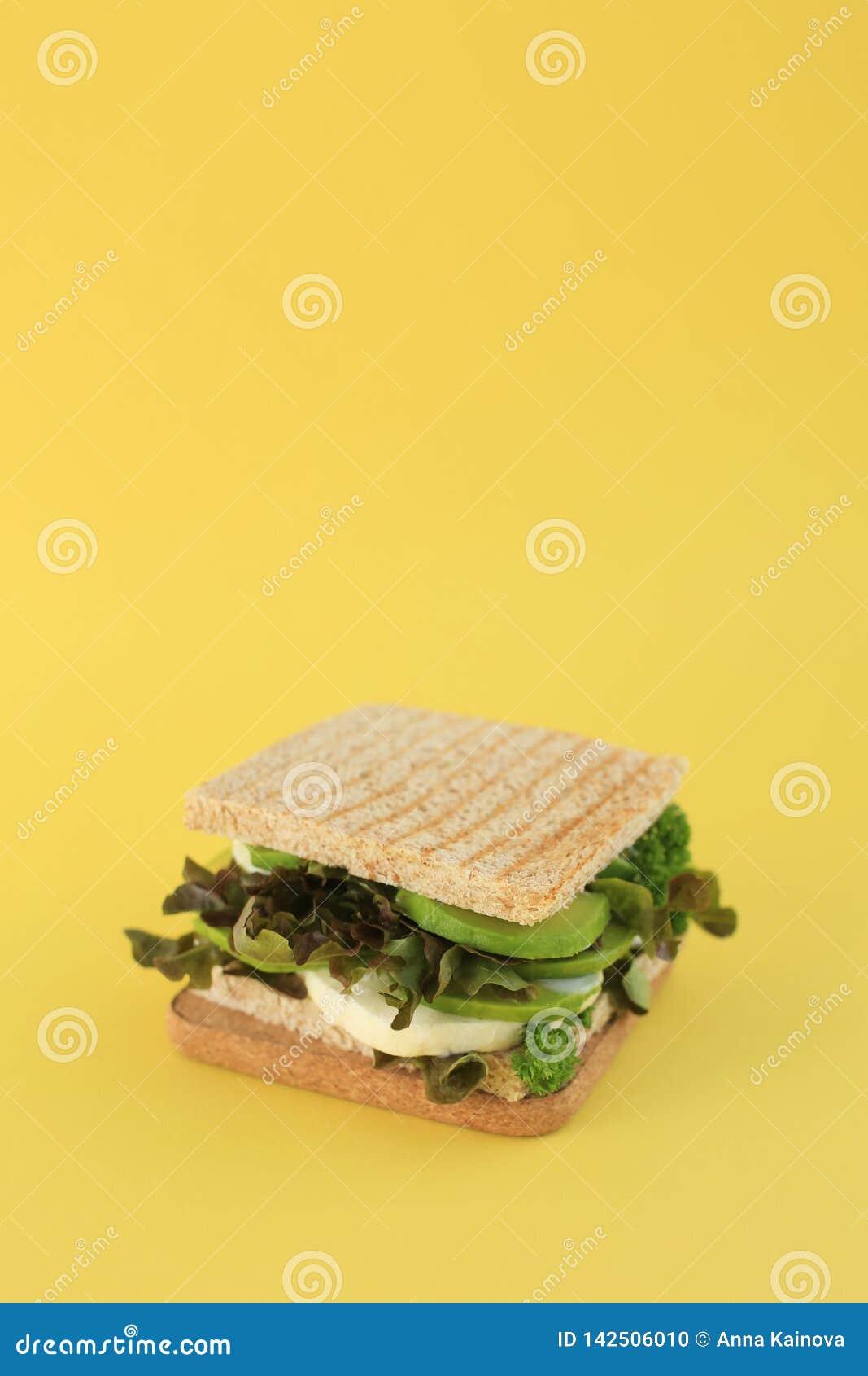 Sanduíche do verde do vegetariano