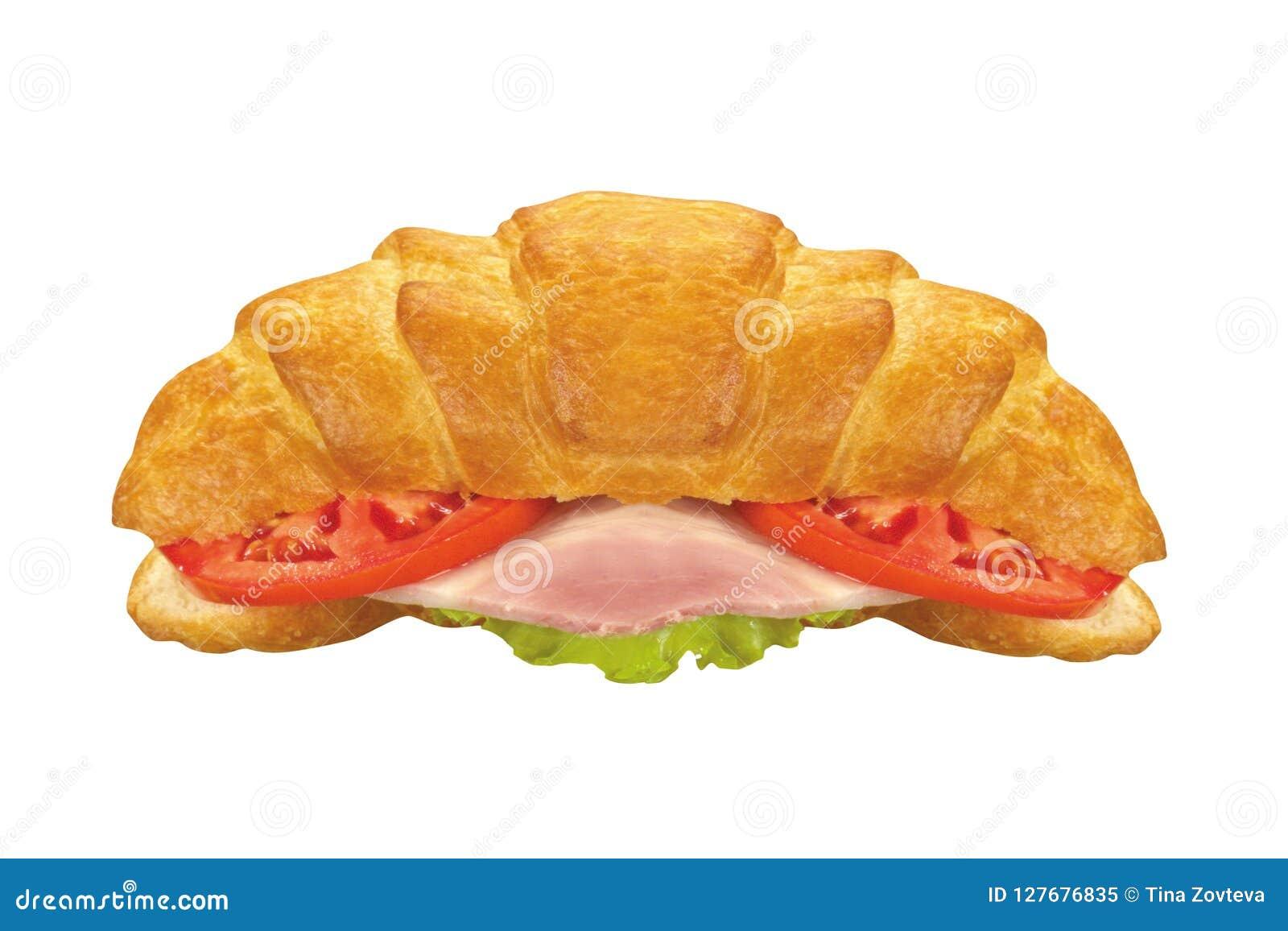 Sanduíche secundário isolado no branco