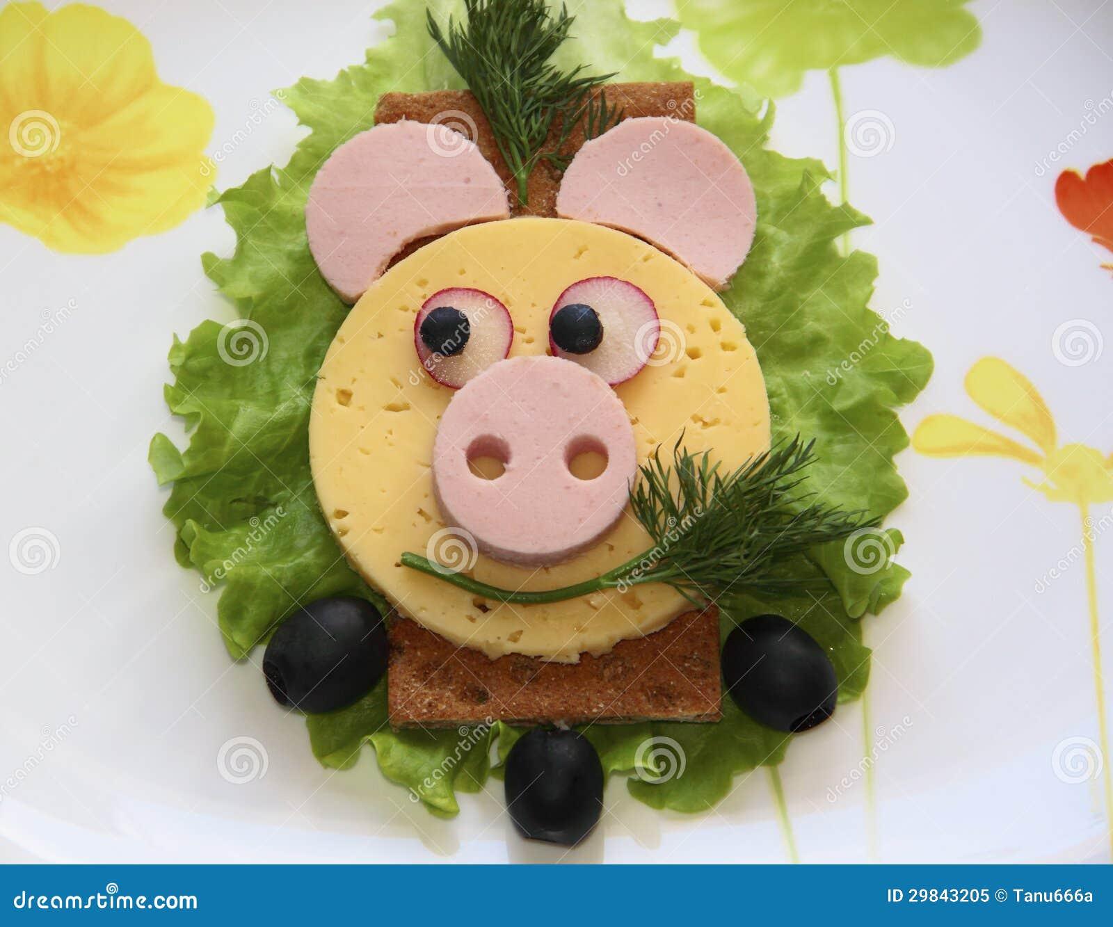 Sanduíche - porco, alimento para crianças