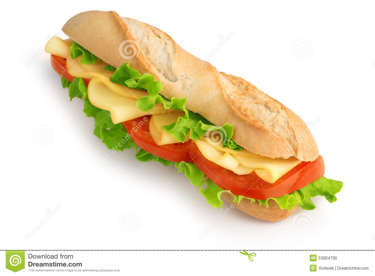 Sandwich baguette avec du fromage photo stock image for Baguette du maison