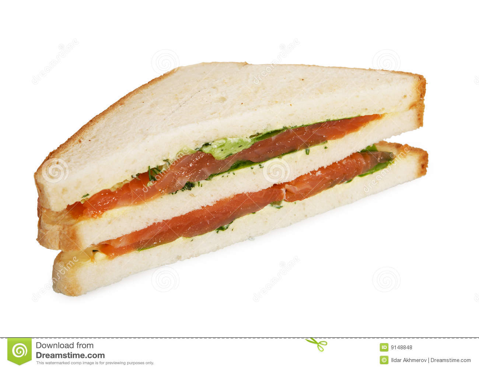 Sandwich à club saumoné