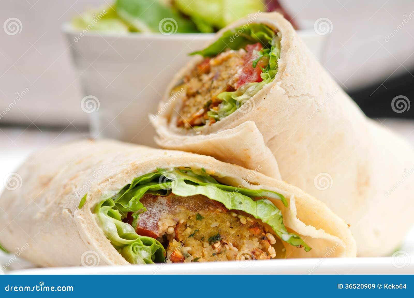 Sandwich à enveloppe de petit pain de pain pita de Falafel