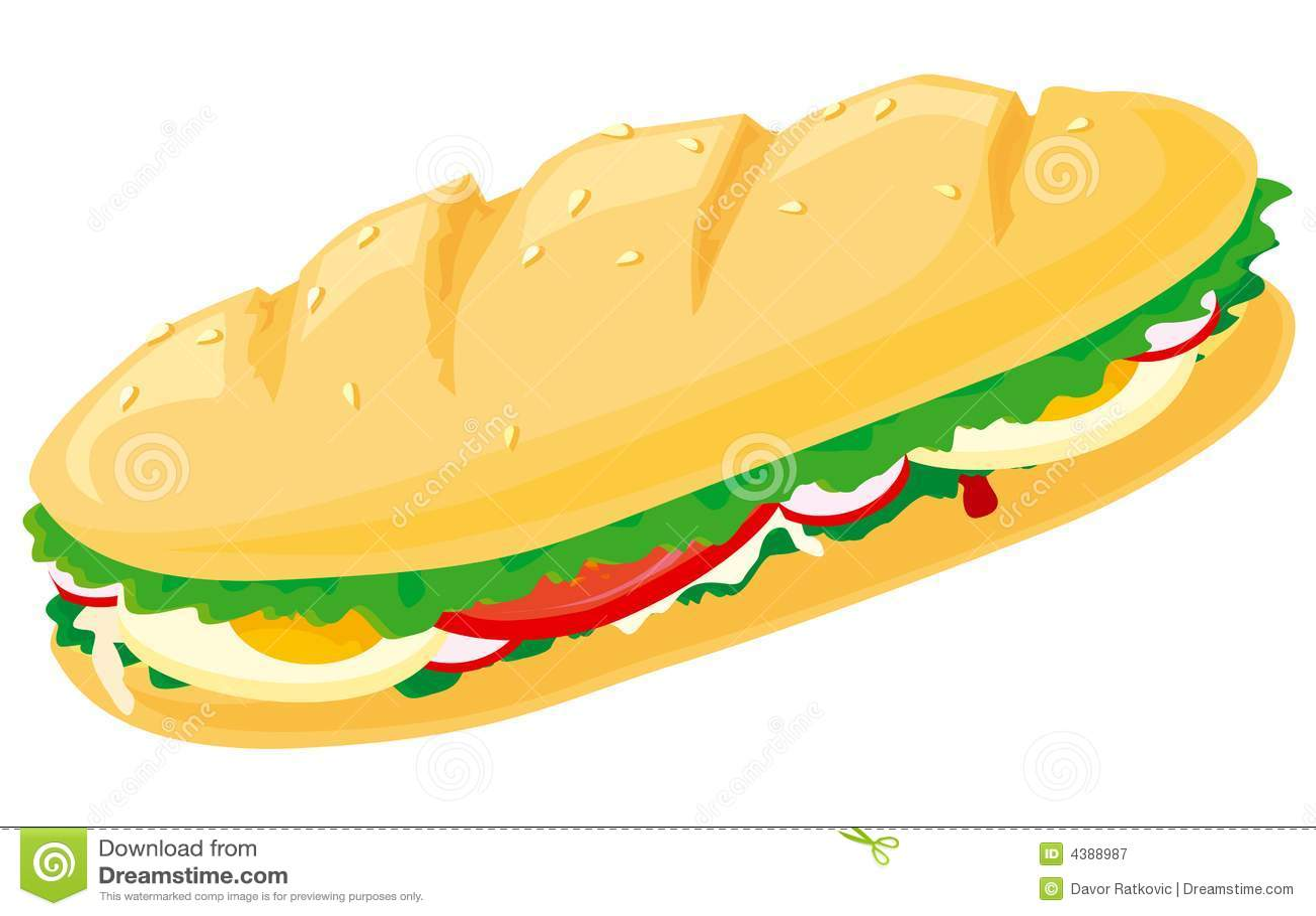 Sandwich Stock Vector Image Of Vegetable Black Tomato