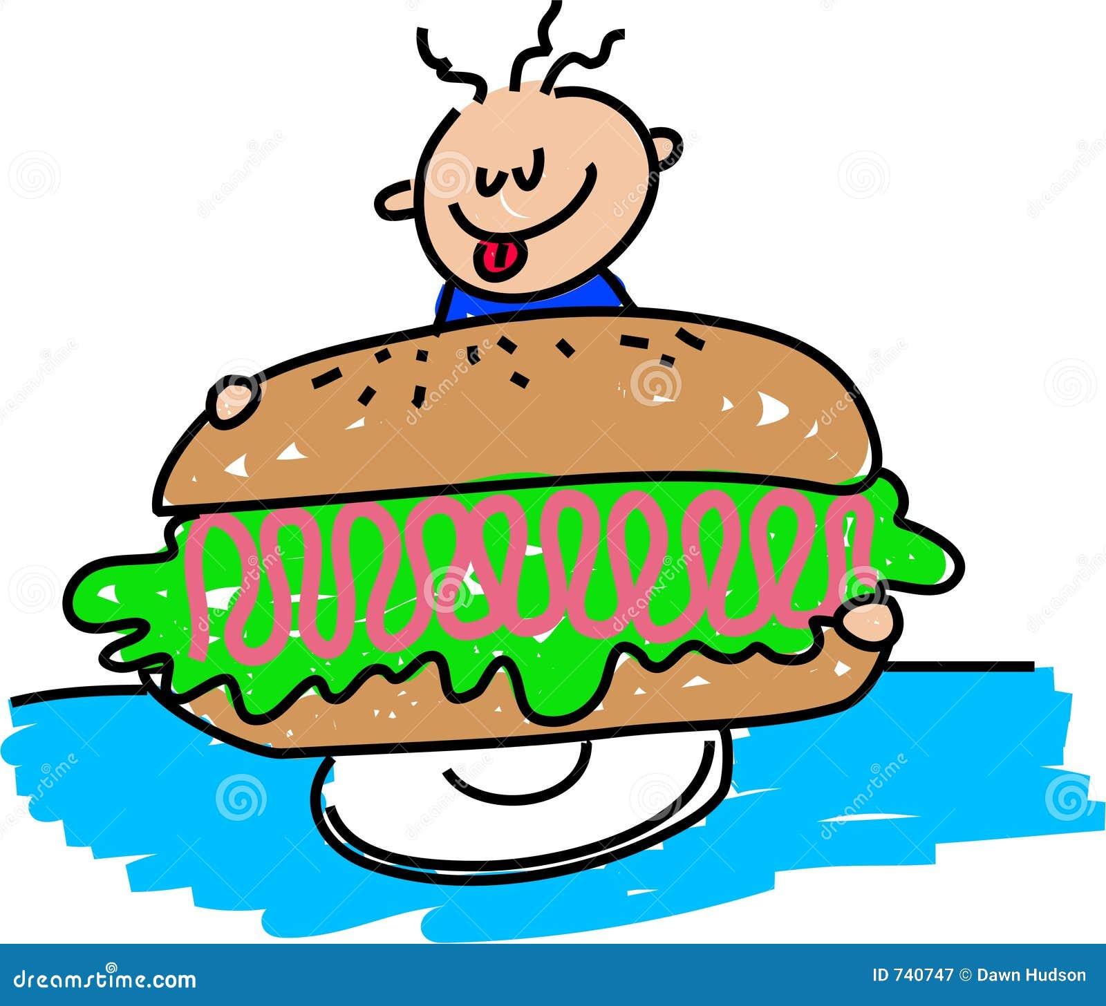 Sandwich au jambon géant