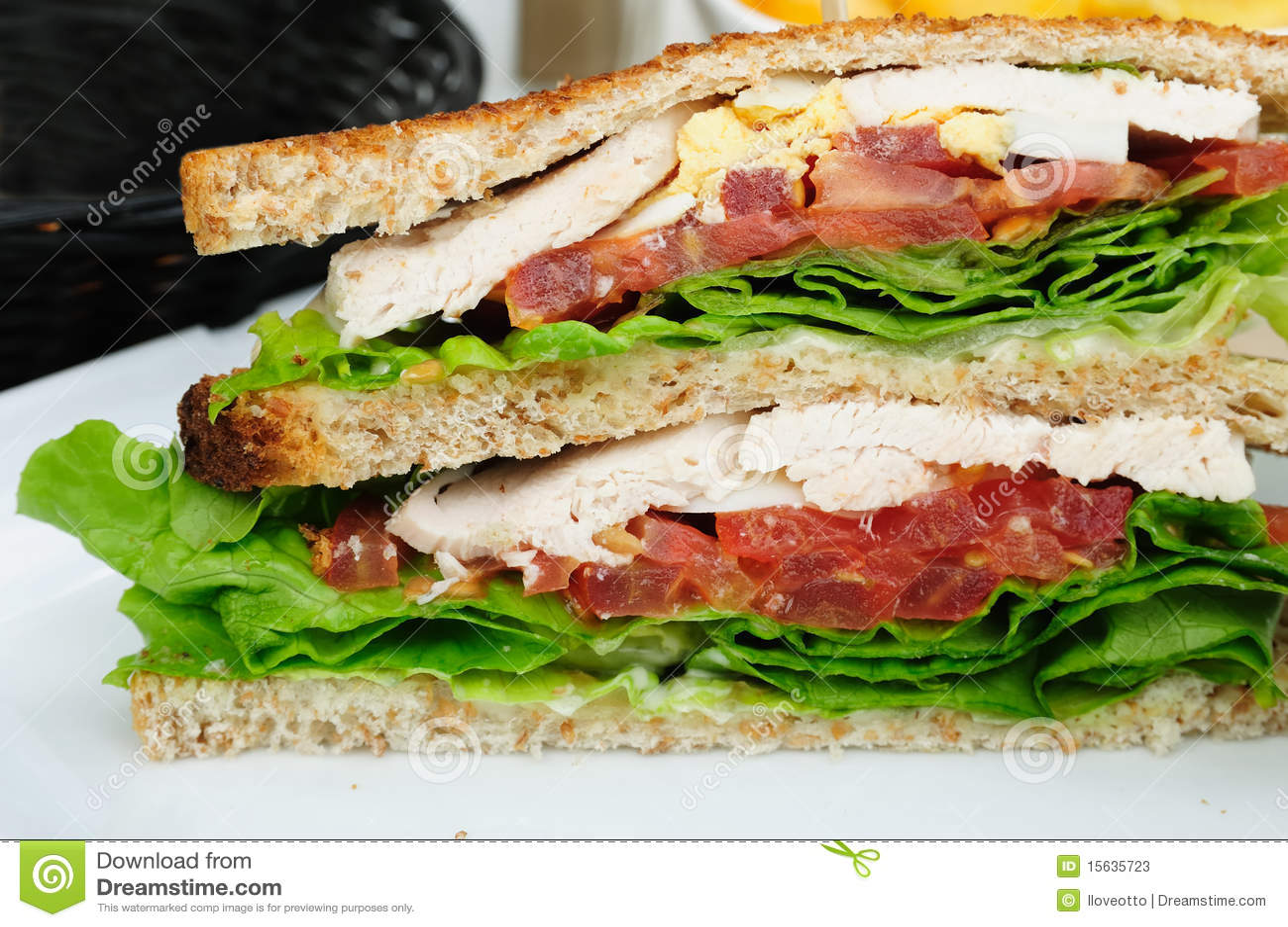 Sandwich avec le lard