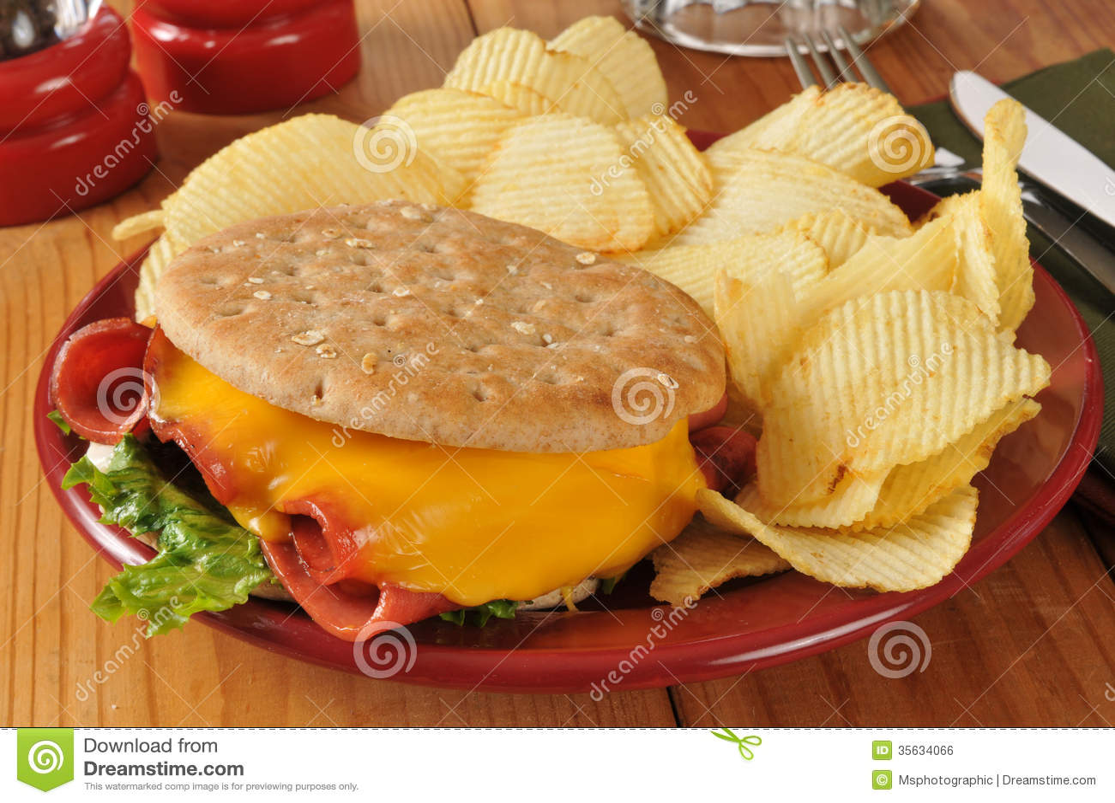 Sandwich bidon frit