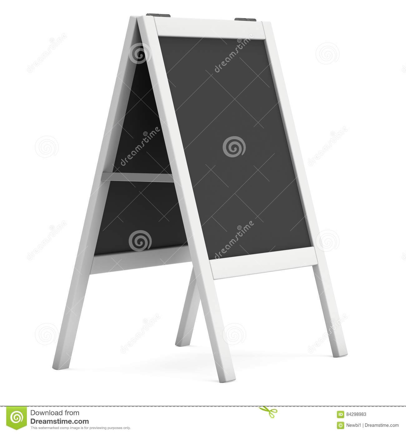Sandwich Board. Black Menu Outdoor Display With Clipping Path Stock ...