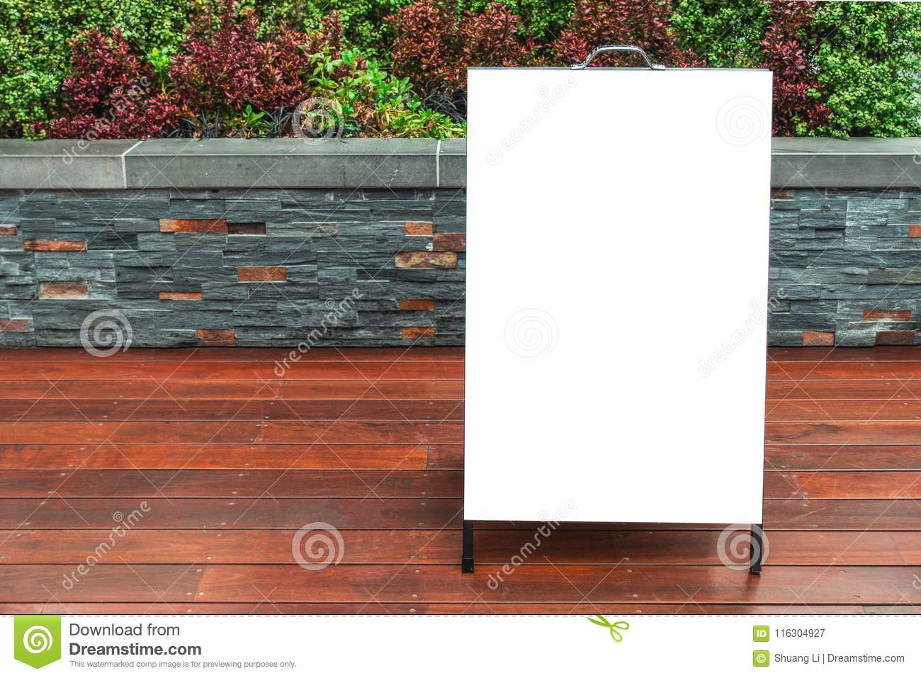 Sandwich Board Mock Up Outdoor Advertising Template. Stock Image ...