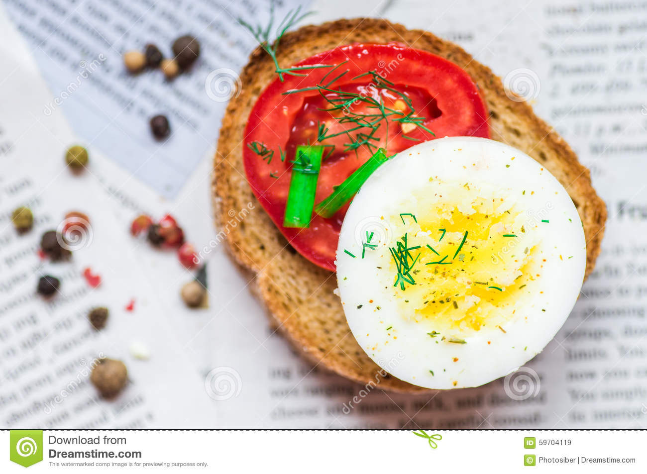 More similar stock images of ` Sandwich with boiled egg and tomato `