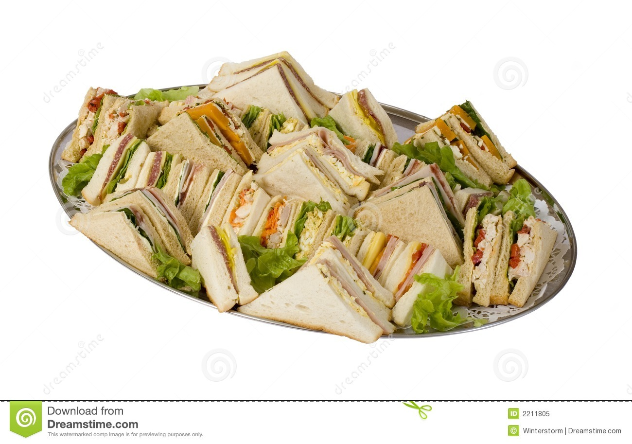 Sandwich Catering Platter Stock Image Image Of Catering 2211805