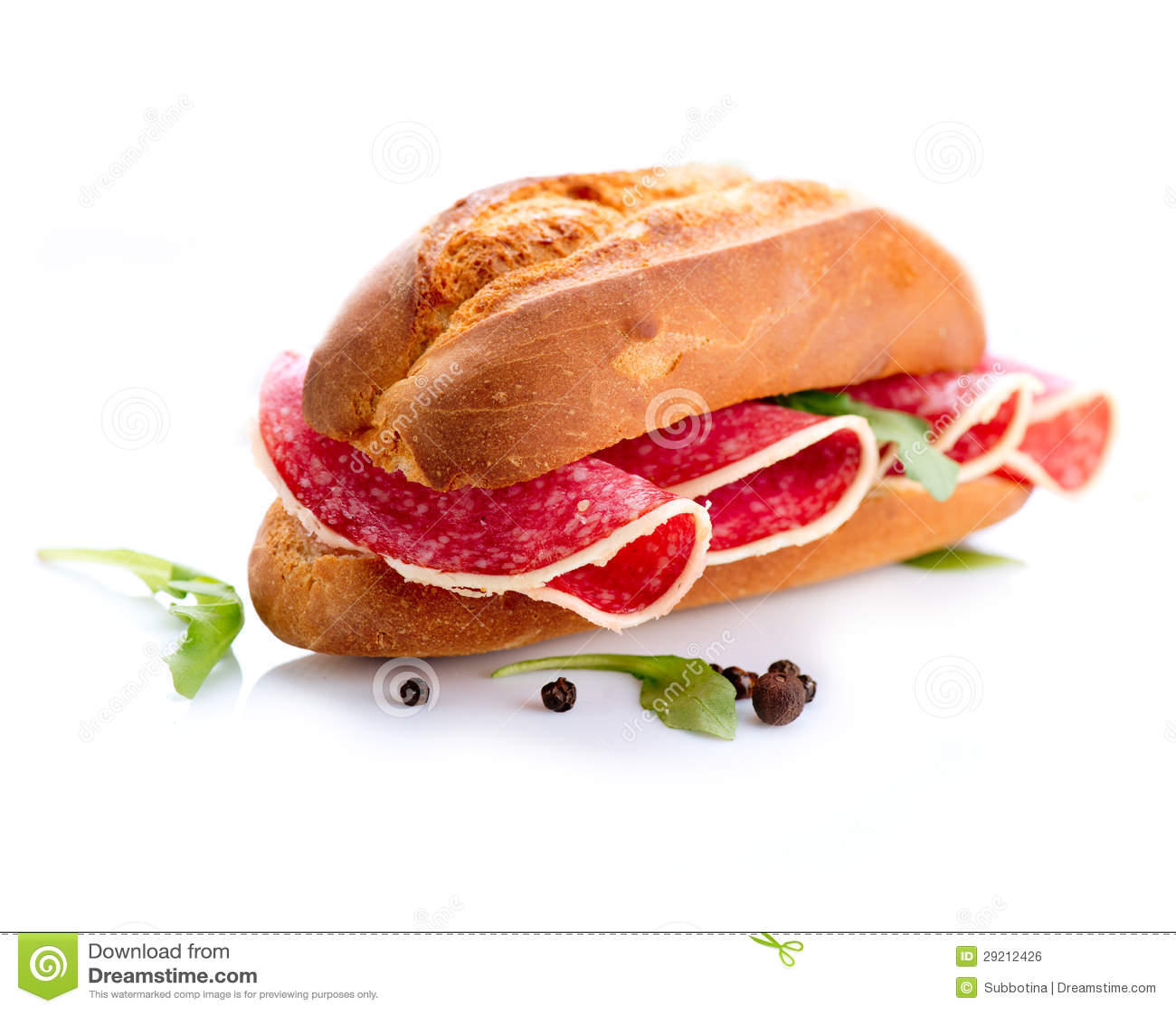Sandwich con salame
