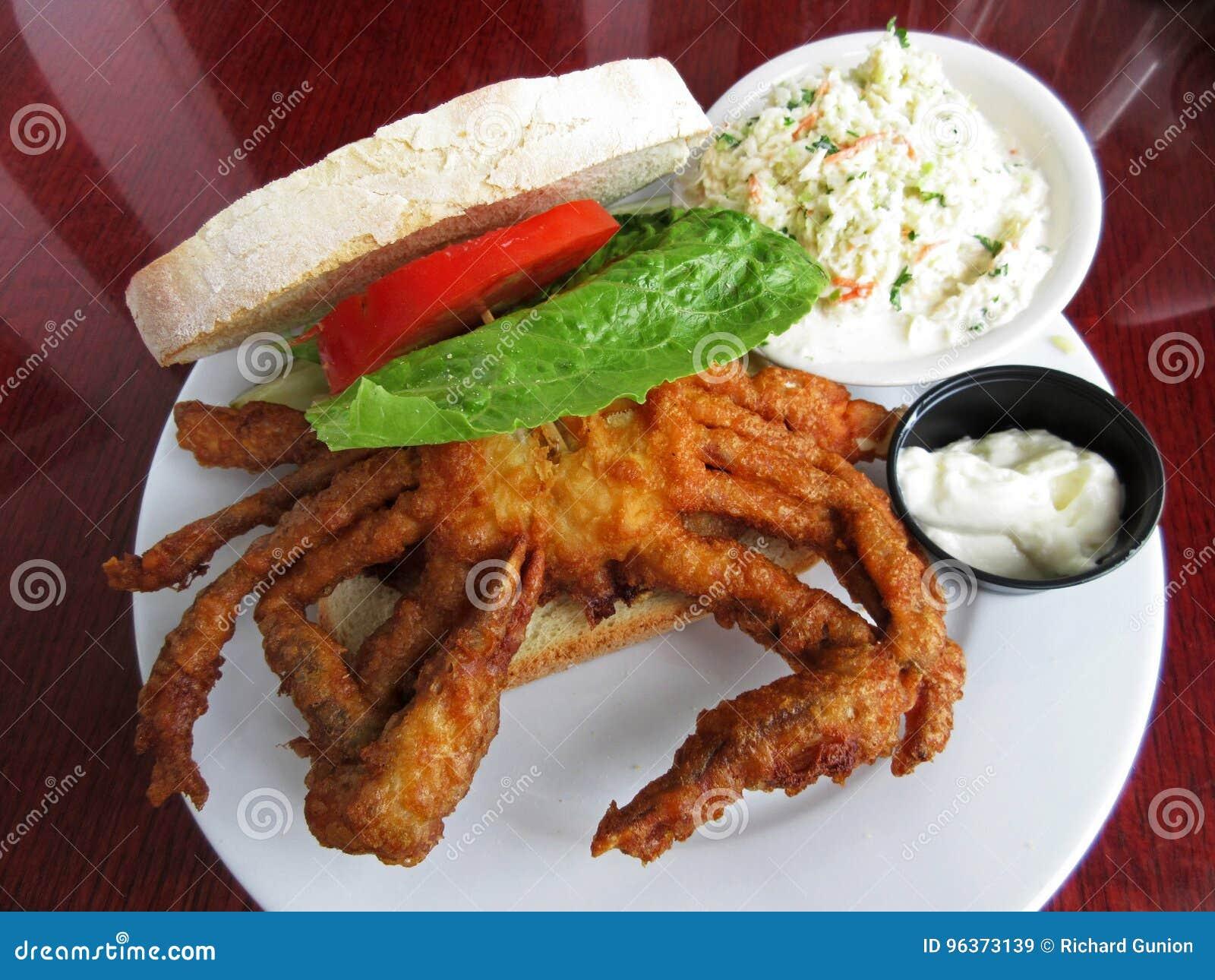 Sandwich délicieux à crabe de Doux-SHELL